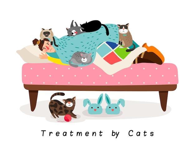Behandeling door katten