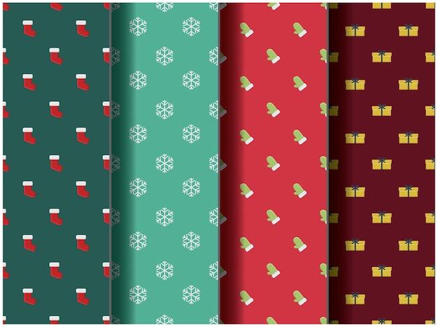 Behang achtergrond patroon sjabloon pictogram feest cartoon poster flyer vector palet vrolijk kerstfeest