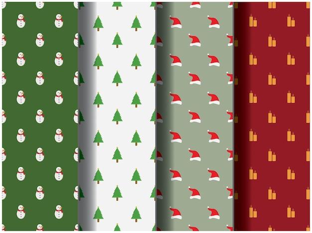 Behang achtergrond patroon sjabloon pictogram feest cartoon poster flyer vector vrolijk kerstfeest santa