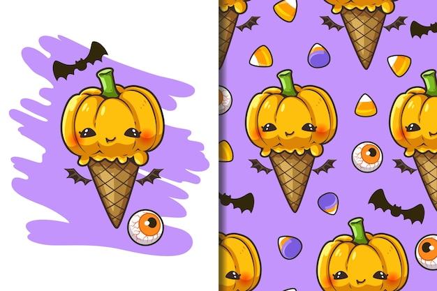 Behang en patroon halloween festival cartoon