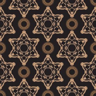 Behang in een vintage stijlpatroon. grafisch ornament voor behang, stof, verpakking, verpakking.