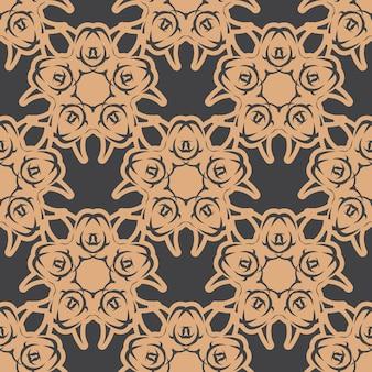 Behang in een vintage stijlpatroon. indiase bloemenelement. grafisch ornament voor behang, stof, verpakking, verpakking. chinees blauw en zwart abstract bloemenornament.