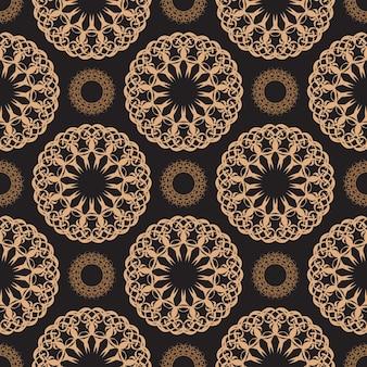 Behang in een vintage stijlpatroon. indiase bloemenelement. grafisch ornament voor behang, stof, verpakking, verpakking.