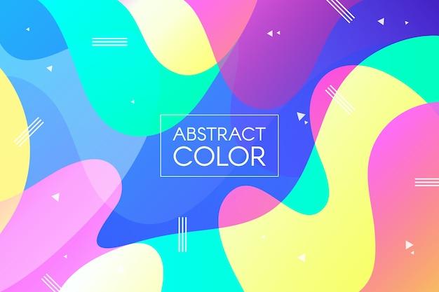 Behang kleurrijk concept