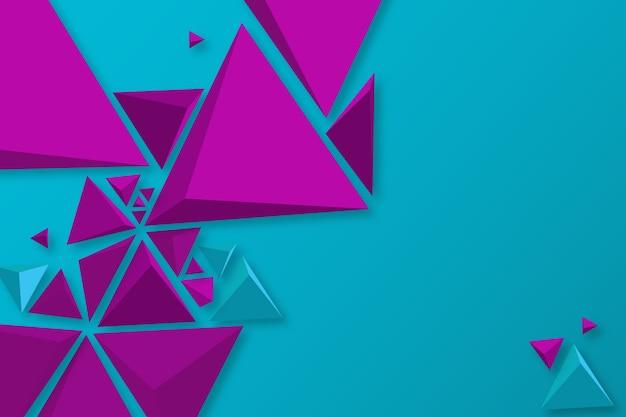 Behang met 3d driehoekenconcept