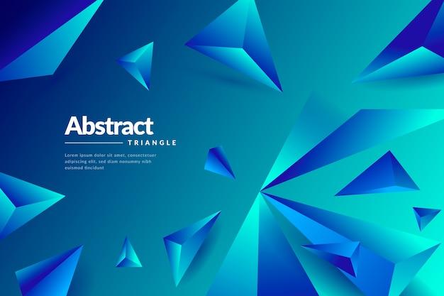 Behang met 3d geometrische vormen Gratis Vector