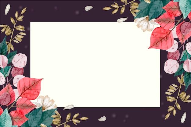 Behang met bloemenconcept