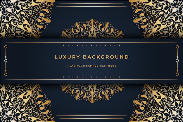 Behang met luxe mandala concept