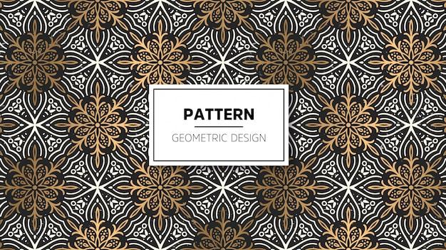 Behang met mandala-patroon.