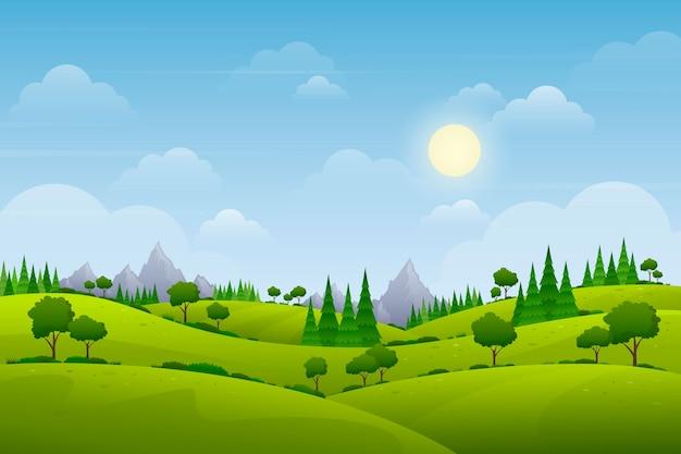 Behang met natuurlijk landschapsthema