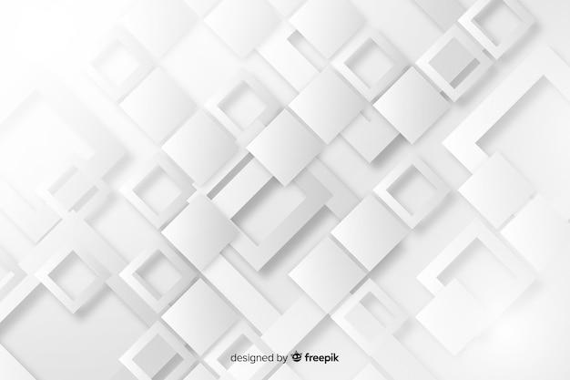Behang met papier geometrisch vormenontwerp
