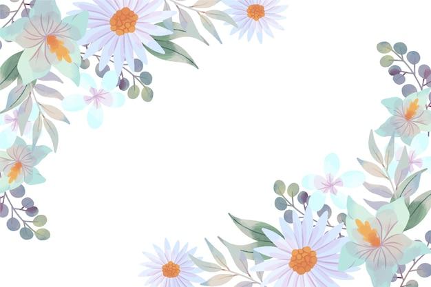 Behang met pastel aquarel bloem