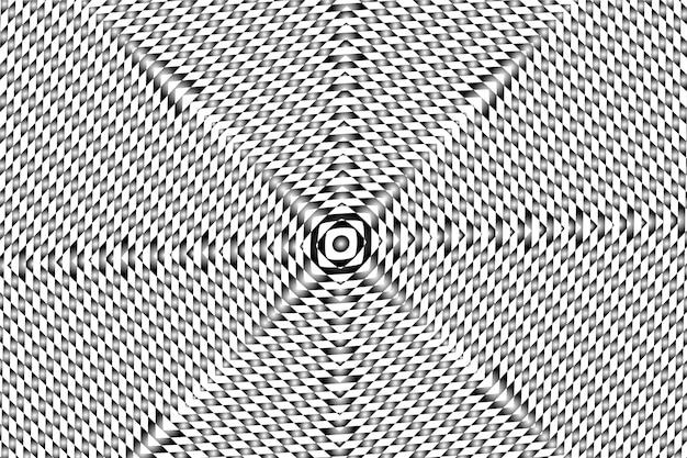 Behang met psychedelische optische illusie