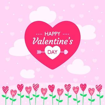 Behang met valentijnsdagconcept