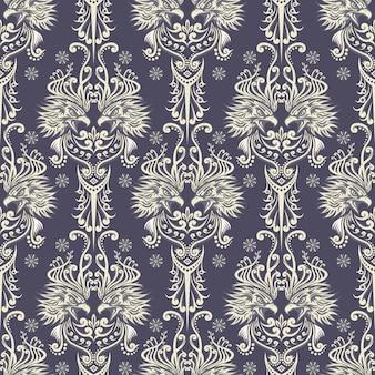 Behang stijl adelaar patroon met kleur wit en grijs