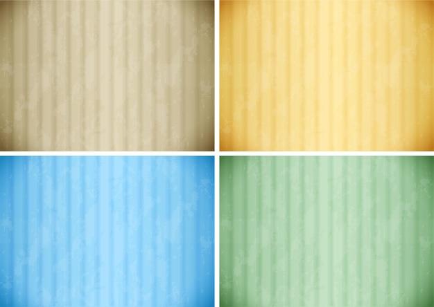 Behangontwerp in vier kleuren