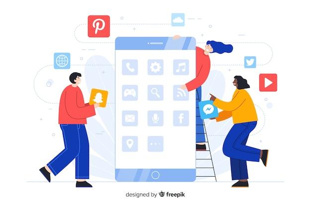 Beheer telefoonmappen apps bestemmingspagina