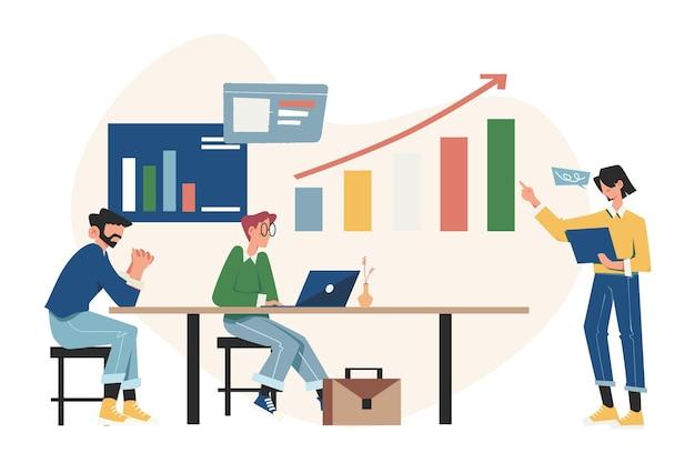 Beheer van kaartinvesteringen, mobiele assistent, omhoog gaan, geld investeren in een project
