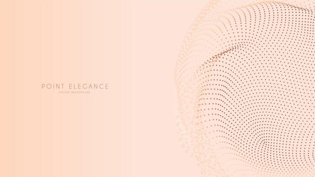 Beige abstracte glitch punt bol achtergrond. elegante stijlvolle futuristische sjabloon.