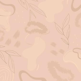 Beige botanische patroon achtergrond