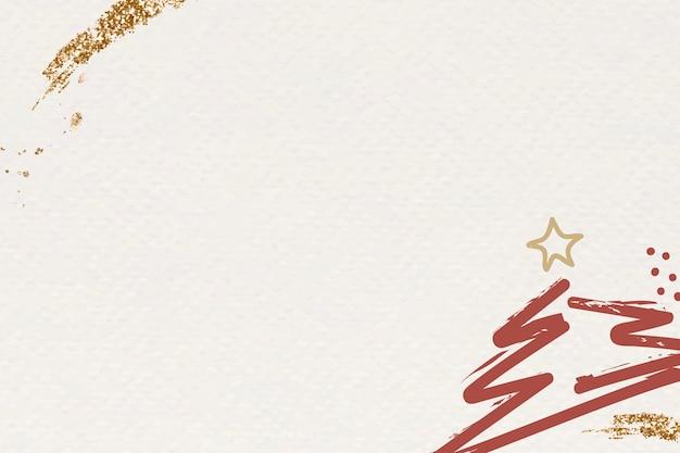 Beige kerstboom abstracte achtergrond