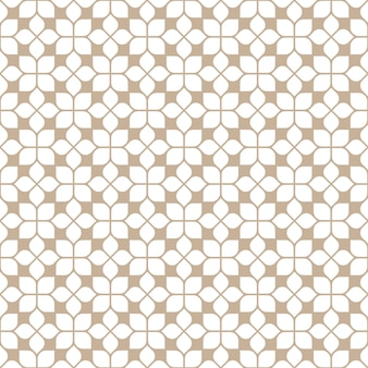 Beige naadloos tegelspatroon in oosterse stijl