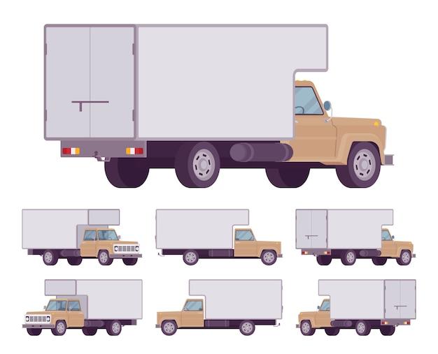 Beige vrachtwagenset