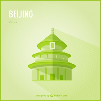 Beijing landmark vector