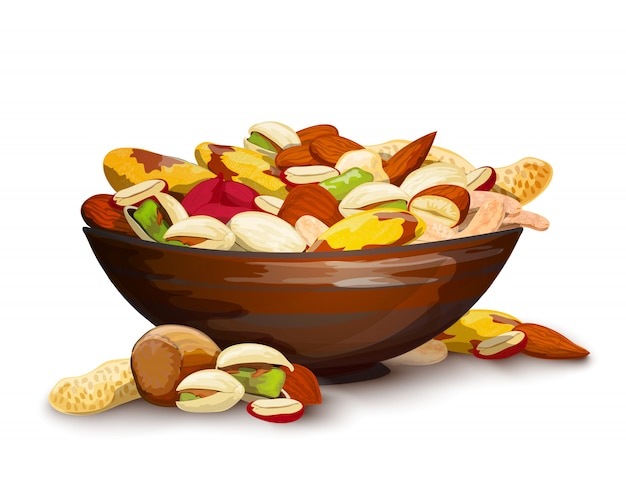Beker met noten