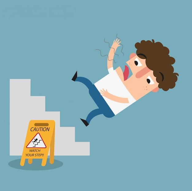 Bekijk je stap voorzichtigheidsteken