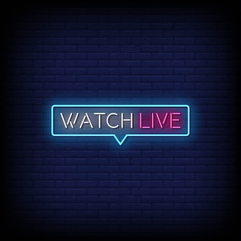 Bekijk live neon signs style text