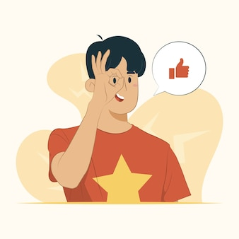 Bekijk oog kijken door vingers uitdrukking ok gebaar concept
