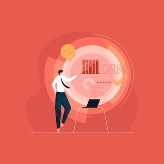 Belang van online reputatiemanagement analyse en voordelen van het goede orm-concept merkgeloofwaardigheid en zichtbaarheid
