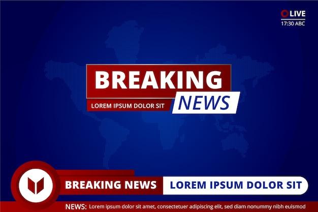 Belangrijk breaking news-kanaal