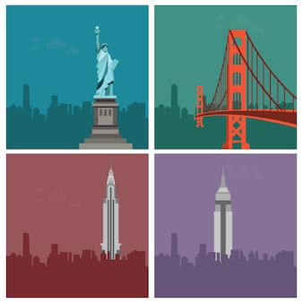 Belangrijkste gebouwen van amerika