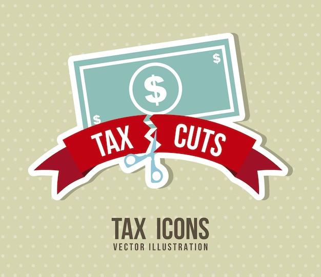 Belasting pictogram over beige achtergrond vectorillustratie