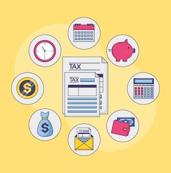 Belastingbetaling concept