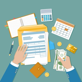 Belastingbetalingsconcept staat overheidsbelastingberekening van belastingaangifte niet ingevuld blanco belastingformulier