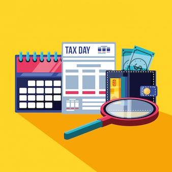 Belastingdag met kalender