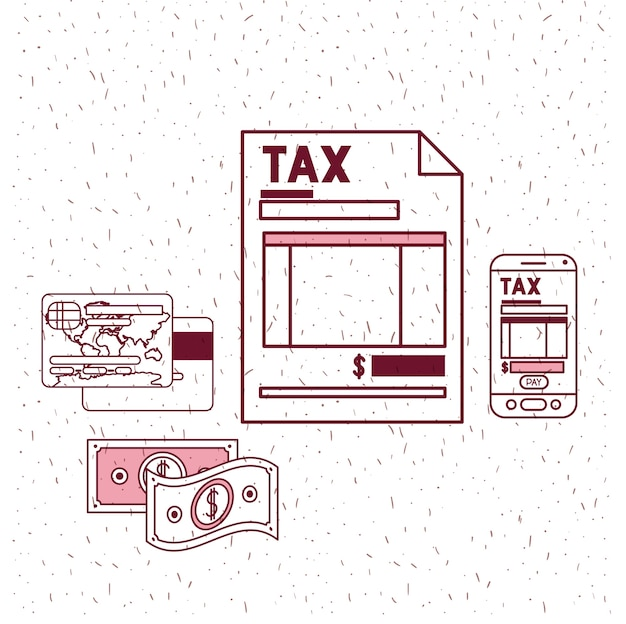 Belastingdag vastgestelde pictogrammen