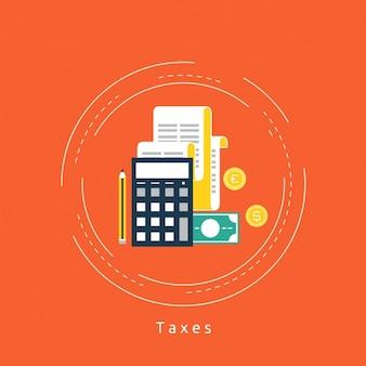 Belastingen achtergrond ontwerp