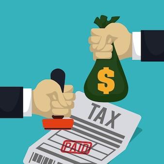 Belastingen ontwerp, vectorillustratie.