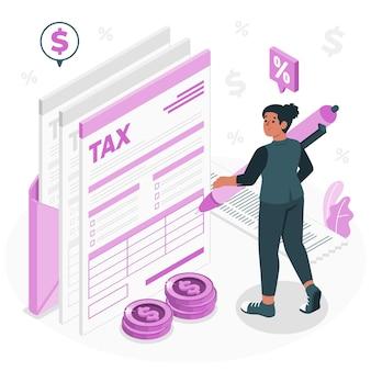 Belastingformulier concept illustratie