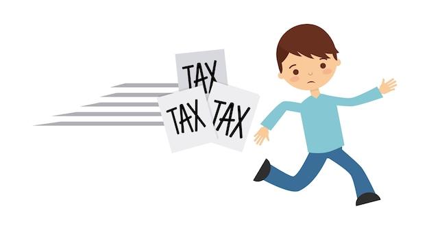 Belastingsaansprakelijkheidsontwerp, vector grafische illustratie eps10