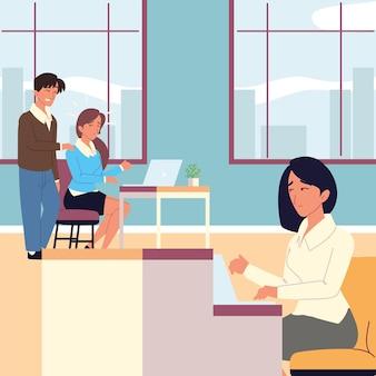 Beledigende baas valt een collega lastig