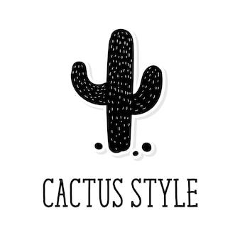 Belettering cactus stijl met cactus