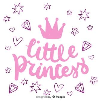 Belettering citaat met prinses stijl