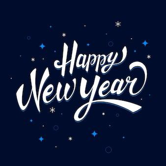 Belettering gelukkig nieuw jaar 2020 achtergrond