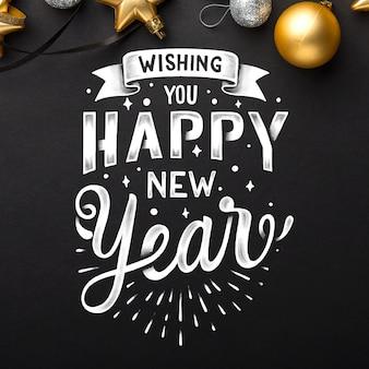 Belettering gelukkig nieuwjaar 2020 wallpaper