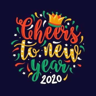 Belettering gelukkig nieuwjaar 2020